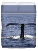 Humpback Whale Swimming Duvet Cover