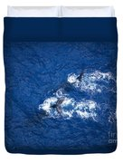 Humpback Whales Aerial Duvet Cover