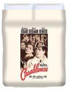 Humphrey Bogard And Ingrid Bergman In Casablanca 1942 Duvet Cover
