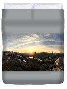 Humphreys Basin Sunset Duvet Cover
