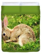 Hungry Bunny Duvet Cover