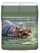 Hungry Hungry Hippo Duvet Cover