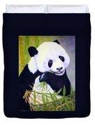 Hungry Panda Duvet Cover