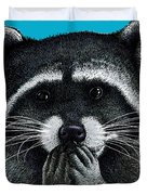 Hungry Raccoon Duvet Cover