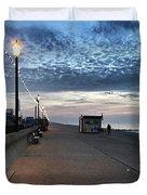 Hunstanton At 5pm Today  #sea #beach Duvet Cover