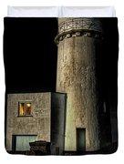 Hunstanton Lighthouse At Night Duvet Cover