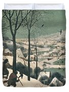 Hunters In The Snow Duvet Cover