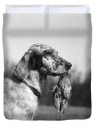 Hunting Dog With Quail, C.1920s Duvet Cover