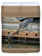 Hunting Heron Duvet Cover