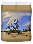 Hunting Island Beach And Driftwood Duvet Cover