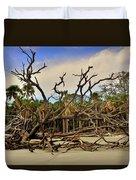 Hunting Island Driftwood Beach Beaufort Sc Duvet Cover