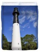 Hunting Island Lighthouse South Carolina Duvet Cover