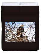 Hunting Red-tailed Hawk Duvet Cover
