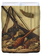 Hunting Trophies Duvet Cover by Claude Monet