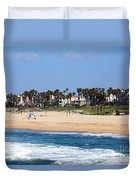 Huntington Beach California Duvet Cover by Paul Velgos