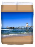 Huntington Beach Pier In Orange County California Duvet Cover