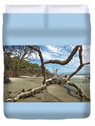Huntington Island Panorama Duvet Cover