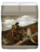 A Huntsman And Dogs Duvet Cover