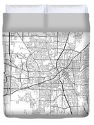 Huntsville Alabama Usa Light Map Duvet Cover