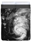 Hurricane Irma Infrared Duvet Cover