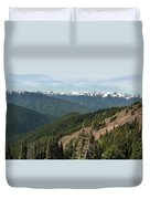 Hurricane Ridge View Duvet Cover