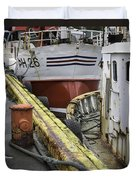 Husavik Boats Iceland 3741 Duvet Cover