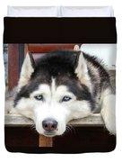 Husky Eyes Duvet Cover