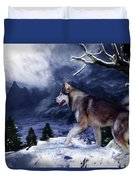Husky - Mountain Spirit Duvet Cover