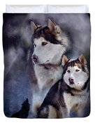 Husky - Night Spirit Duvet Cover