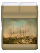 Hussars Embarking At Deptford Duvet Cover