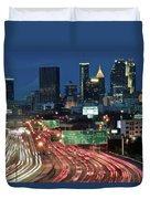 Hustle And Bustle Of Atlanta Roadways Duvet Cover