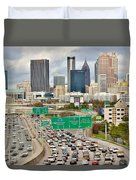 Hustle And Bustle On The Highways And Byways Duvet Cover