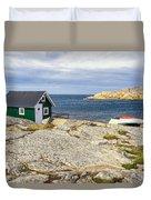 Hut On The Rocks Duvet Cover