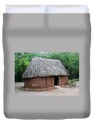 Hut Yucatan Mexico Duvet Cover