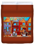 Hutchison Street Sabbath In Montreal Duvet Cover