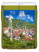 Hvar Architecture And Nature Vertical View Duvet Cover