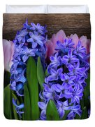 Hyacinths And Tulips II Duvet Cover