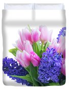 Hyacinths And Tulips  Duvet Cover
