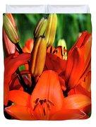Hybrid Lilies Duvet Cover