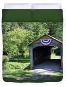 Hyde Hall Covered Bridge Duvet Cover