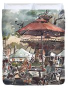 Hyde Park Market Plein Air Duvet Cover