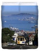 Hyde Street Cable Car 1978 Duvet Cover