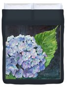 Hydrangea And Water Droplet Duvet Cover
