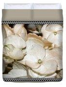 Hydrangea Blossom Framed Duvet Cover