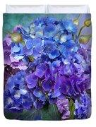 Hydrangea Bouquet - Square Duvet Cover