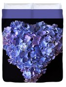 Hydrangea Heart Duvet Cover