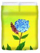 Hydrangea Watercolor Duvet Cover