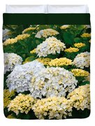 Hydrangeas Blooming Duvet Cover