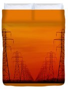 Hydro Power Lines And Towers Duvet Cover