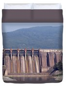 Hydroelectric Power Plants On River Duvet Cover